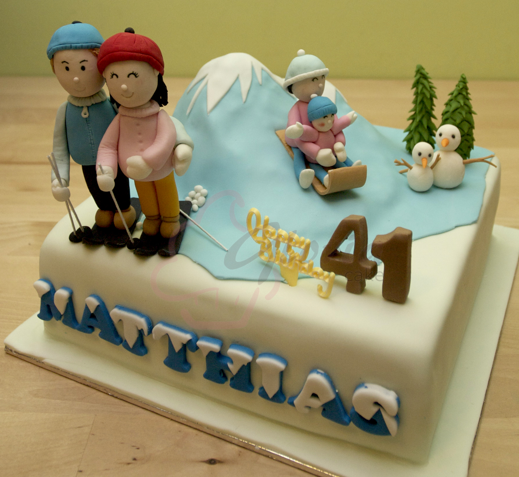 Ski Birthday Cake Gloria Cake