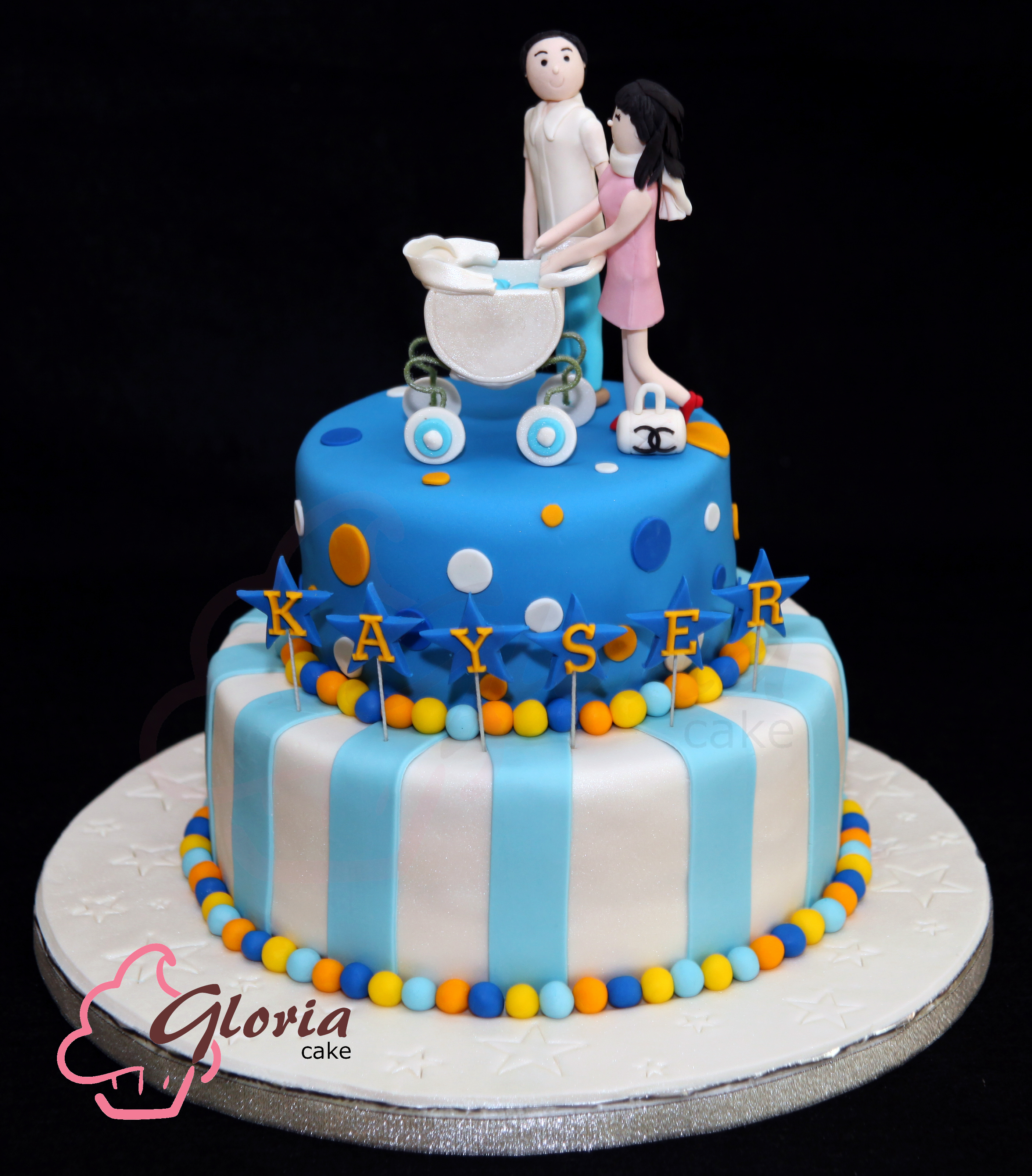 Baby One Month Gloria Cake