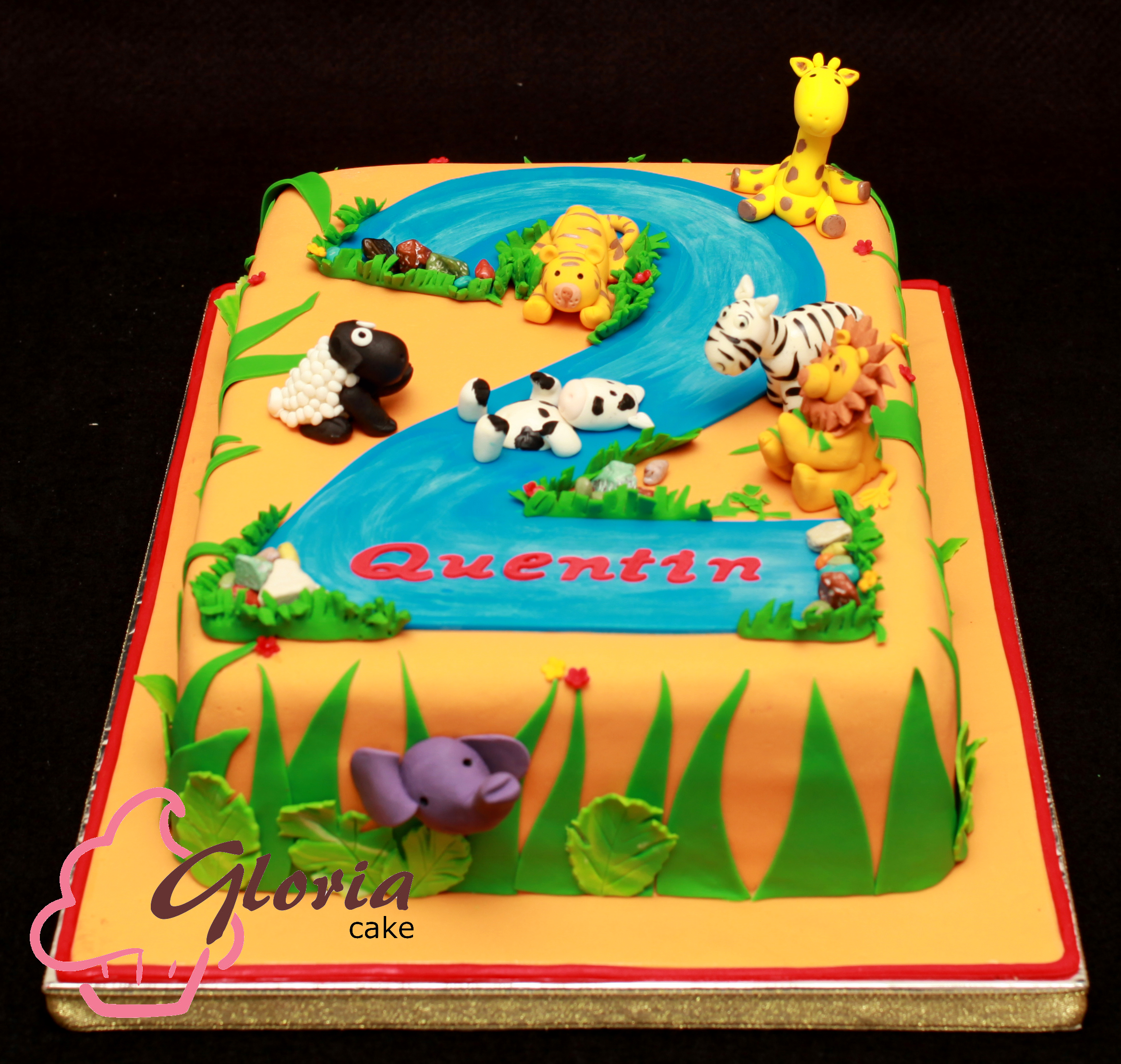 Birthday Cake Ideas Jungle Theme : Jungle Theme Birthday Cake Gloria Cake