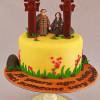Anniversary cake with Jangseung Totem