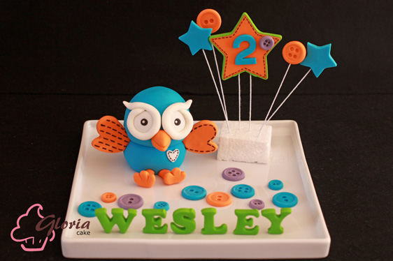 Hoot - from Giggle and hoot, topper for birthday cake
