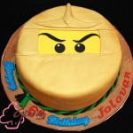 Golden Ninjago Cake