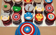 Avengers Cake and Cupcakes