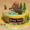 Jurassic Birthday Cake