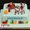 Lego FIreman Birthday Cake