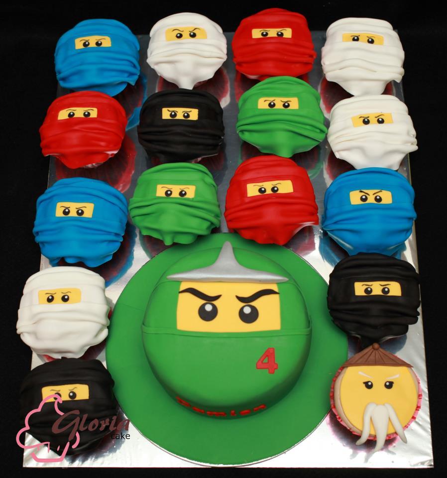 Ninja Cupcake Cake