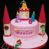 Disney Princesses in Castle Birthday Cake