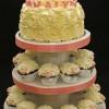 Rose Cake, Lambs Cupcakes